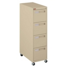 "Spectrum Four Drawer Mobile Vertical Letter File - 28.25""D, 34030"
