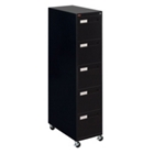 "Spectrum Five Drawer Mobile Vertical Letter File - 28.25""D, 34031"