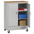 "Mobile Storage Cabinet with Oakgrain Top - 48.75""H, 36443"