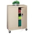 "Mobile Three Shelf Storage Cabinet - 48.75""H, 36446"