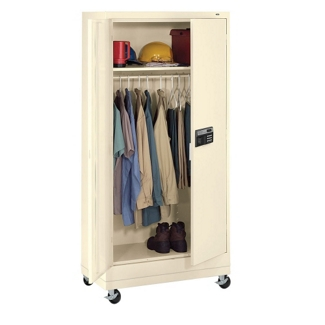 "Mobile Wardrobe Cabinet with Keypad Lock - 78.75""H, 36451"