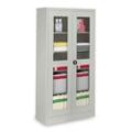 """Glass Door Storage Cabinet - 18""""D x 72""""H, 36703"""