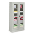 "Glass Door Storage Cabinet - 18""D x 72""H, 36703"