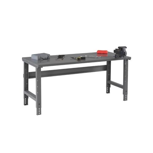 Tennsco Adjustable Height Steel Top Workbench 72\