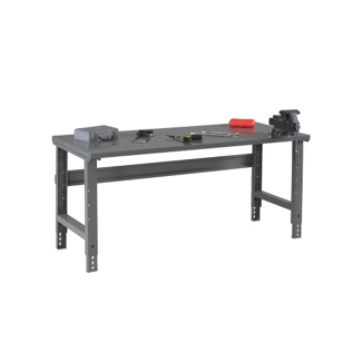 """Adjustable Height Steel Top Workbench - 60"""" x 30"""", 41552"""