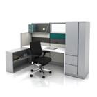Complete Workstation Set with Wardrobe Cabinet, 21228