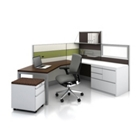 Complete Peninsula L Desk Cubicle Set, 21230
