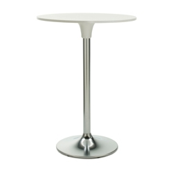 "Clear Glass Top Cafe Height Table - 30"" Diameter, 41784"