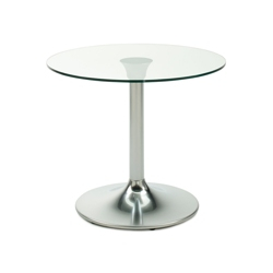 "Frosted Glass Top Table - 30"" Diameter, 41788"