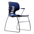 Flex Back Stack Chair with Arms, 51487