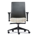 Mid Back Bonded Leather Office Chair with Adjustable Arms, 56787