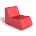 Modern Square Foam Lounge Chair, 76089