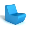 Modern Square Foam Lounge Chair, 76090