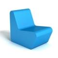 Modern Square Foam Lounge Chair, 76090