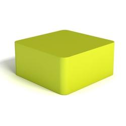 Modern Soft Corner Square Foam Ottoman, 76134