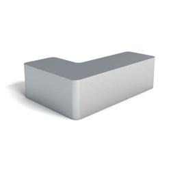 Modern Soft Corner Foam Left Handed L Bench, 76145
