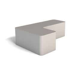 Modern Soft Corner Foam Right Handed L Bench, 76146