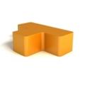 Modern Soft Corner Foam T Bench, 76147