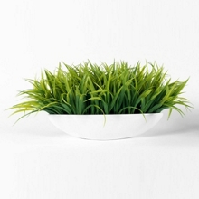 """Faux Grass in Metal Container - 10""""H, 82350"""