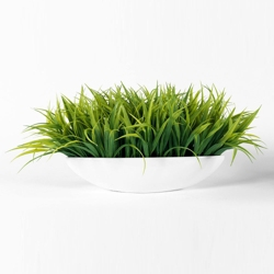 "Faux Grass in Metal Container - 10""H, 82350"