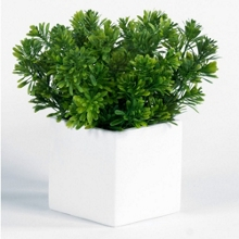 """Artificial Foliage in Metal Cube - 10""""H, 82352"""
