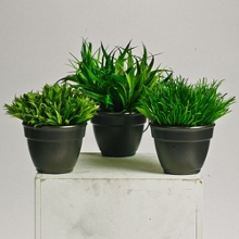Potted Grass - 8 Inches Tall - Set of 3 , 87382
