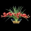 "Red Orchid Floral - 15""H, 87692"