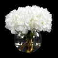 "White Hydrangea With Greenery - 13""H, 87695"