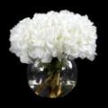 "White Hydrangea With Greenery - 13""H, 87695"