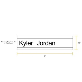"""Removable Sign with Printable Insert - 6""""W x 1.5""""H, 86251"""