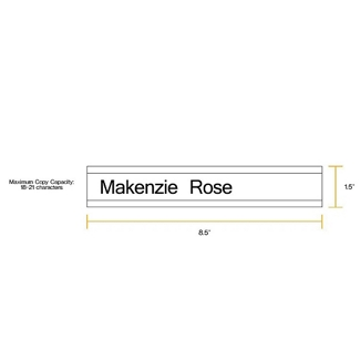 """Removable Sign with Printable Insert - 8.5""""W x 1.5""""H, 86252"""