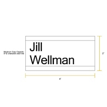 "Removable Sign with Printable Insert - 4""W x 2""H, 86253"