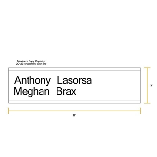 "Removable Sign with Printable Insert - 11""W x 3""H, 86259"