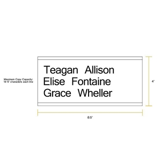 "Removable Sign with Printable Insert - 8.5""W x 4""H, 86262"