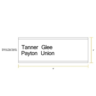 "Removable Sign with Printable Insert - 11""W x 4""H, 86263"