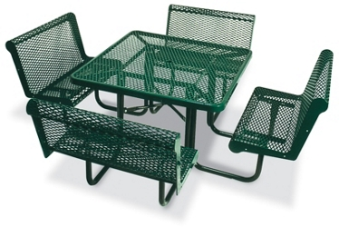 "Square Open Diamond Pattern Outdoor Table - 46"", 86329"