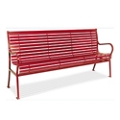 Horizontal Slat Bench with Back - 4 ft, 82151