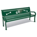 Plastic Coated Outdoor Dog Park Bench - 6'W, 82311