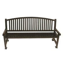 6' Plastic Coated Outdoor Bench with Bow Back, 85132
