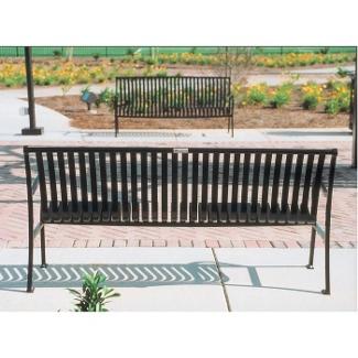 Vertical Slat Bench with Back - 6ft, 85133