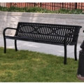 6' Plastic Coated Outdoor Bench with Wave Back, 85138