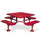"Heavy Duty Surface Mount Square Picnic Table - 46"", 85942"