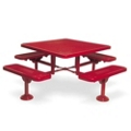 "Heavy Duty In-Ground Mount Square Picnic Table - 46"", 85943"