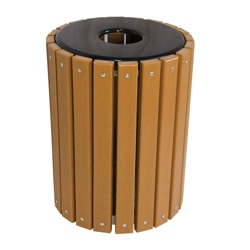 32 Gallon Recycled Plastic Lumber Waste Receptacle, 85960