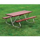 Recycled Plastic Lumber Bolt Thru Picnic Table - 6 ft, 85977