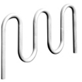 In-Ground Contemporary 5 Loop Bike Rack, 87139