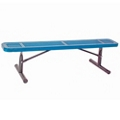 Backless Portable Perforated Steel Bench - 6'W, 87851