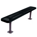 Backless Surface Mount Perforated Steel Bench - 6'W, 87852
