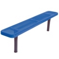 Backless In-Ground Mount Perforated Steel Bench - 8'W, 87857