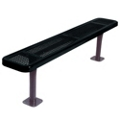 Backless Surface Mount Perforated Steel Bench - 10'W, 87860
